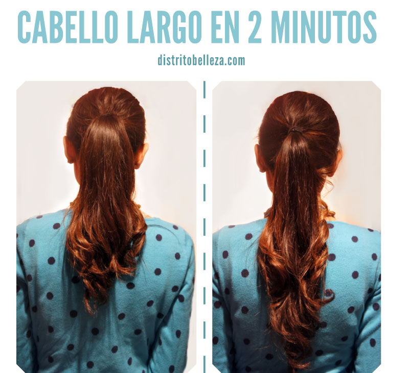 Cabello largo en 2 minutos