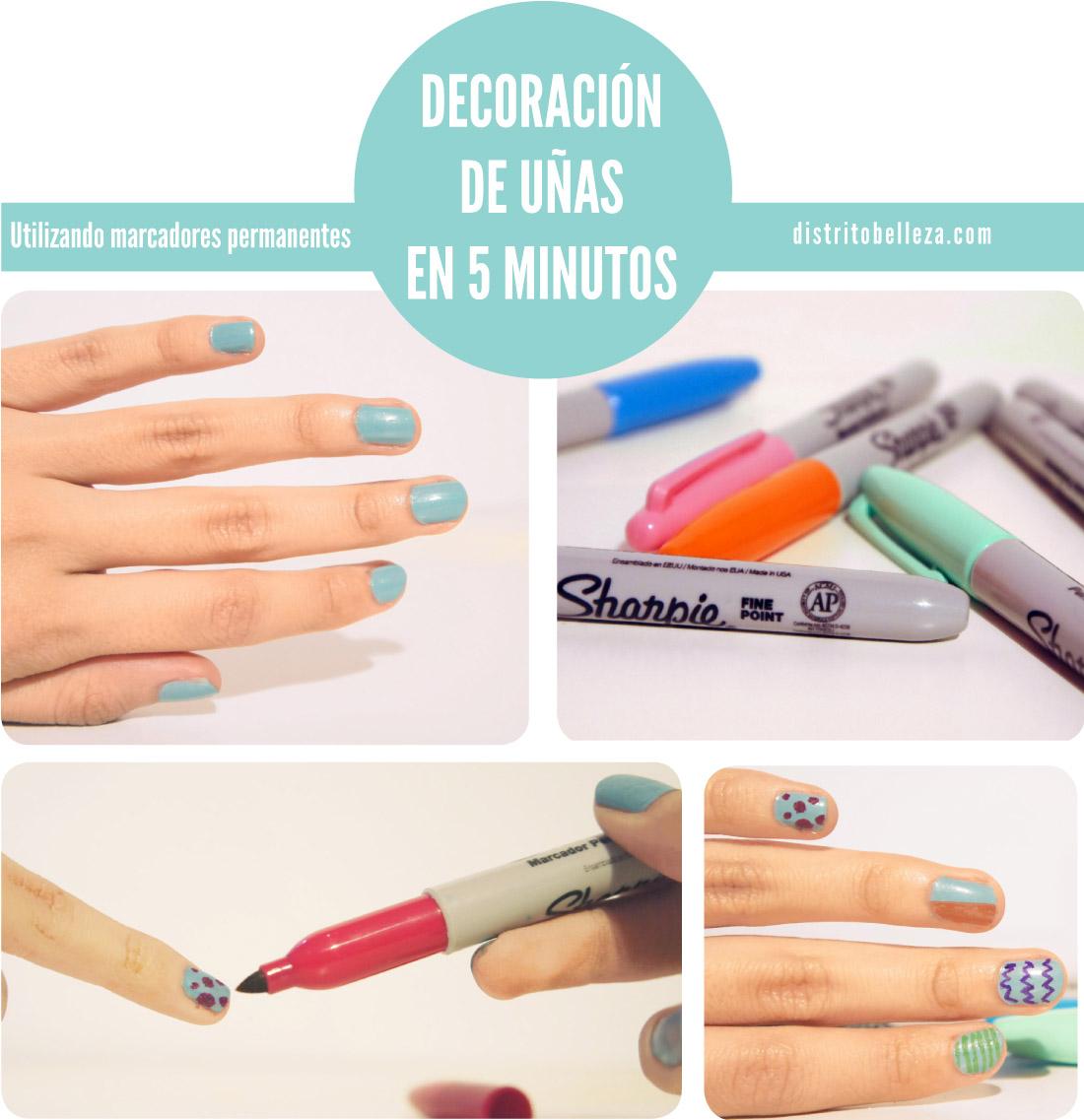 Manicure - Esmalte con sharpie - Distrito Belleza