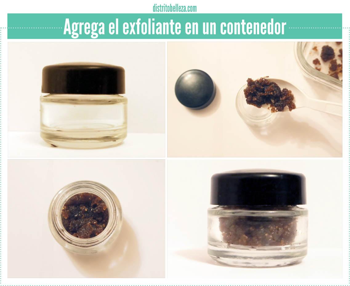exfoliante para labios contenedor
