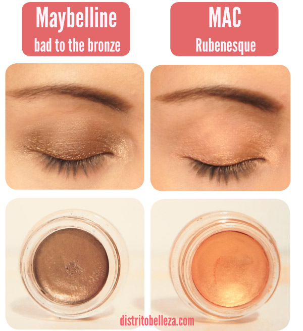 Paint Pot Mac vs maybelline _ojos