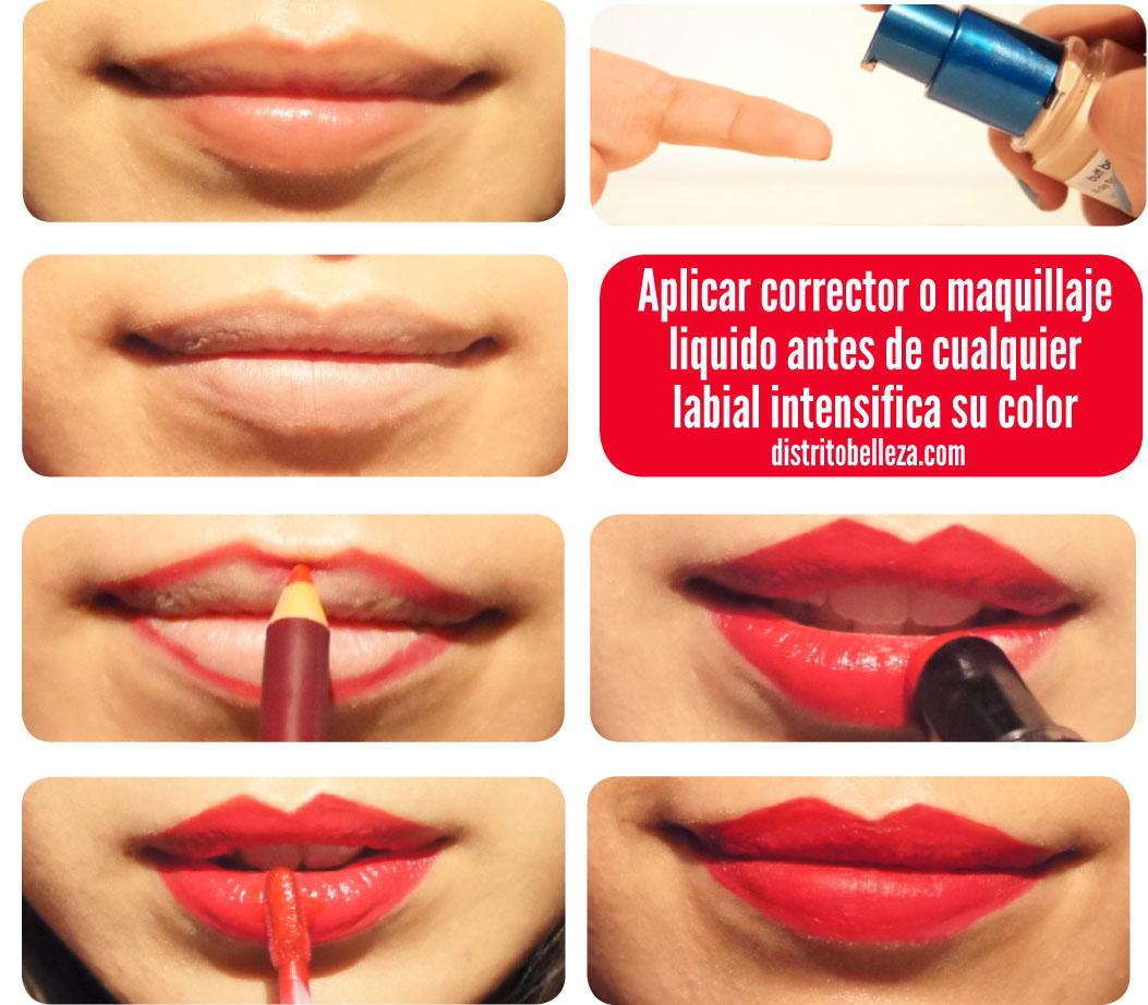 Tips para usar labial rojo tutorial