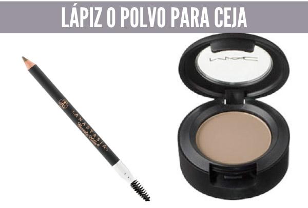5 cosmeticos basicos lapiz o polvo para ceja
