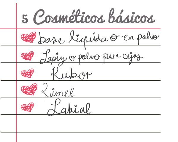 5 cosmeticos basicos lista