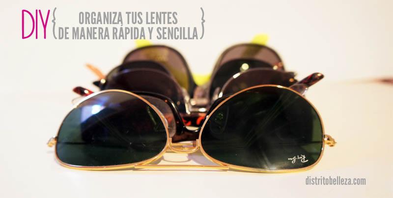 cómo organizar lentes lentes de sol
