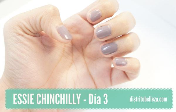 Reseña Essie Chinchilly día 3