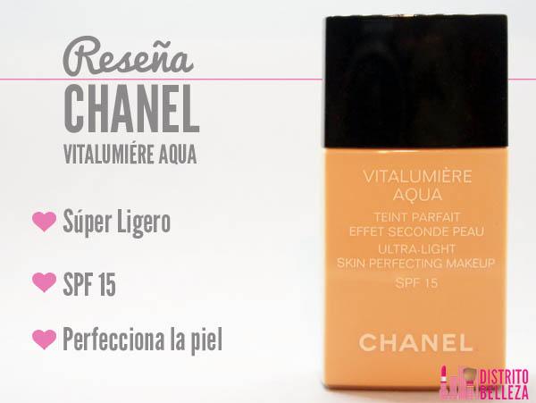 Reseña Chanel vitalumiére Aqua beneficios