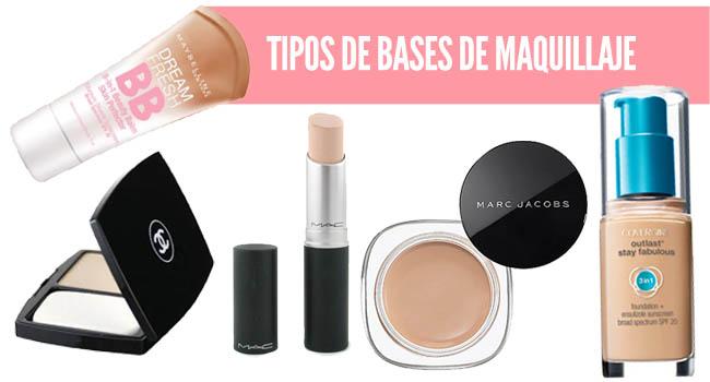 Tipos de bases de maquillaje