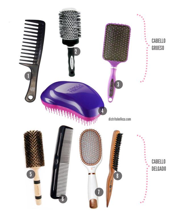 Tipos de cepillos para cabello todos