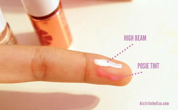 benefit high beam y posie tint colores