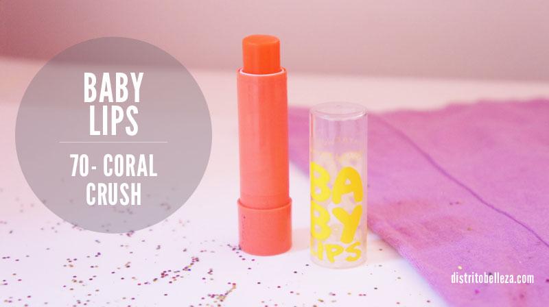 Labiales para primavera y verano baby lips coral crush