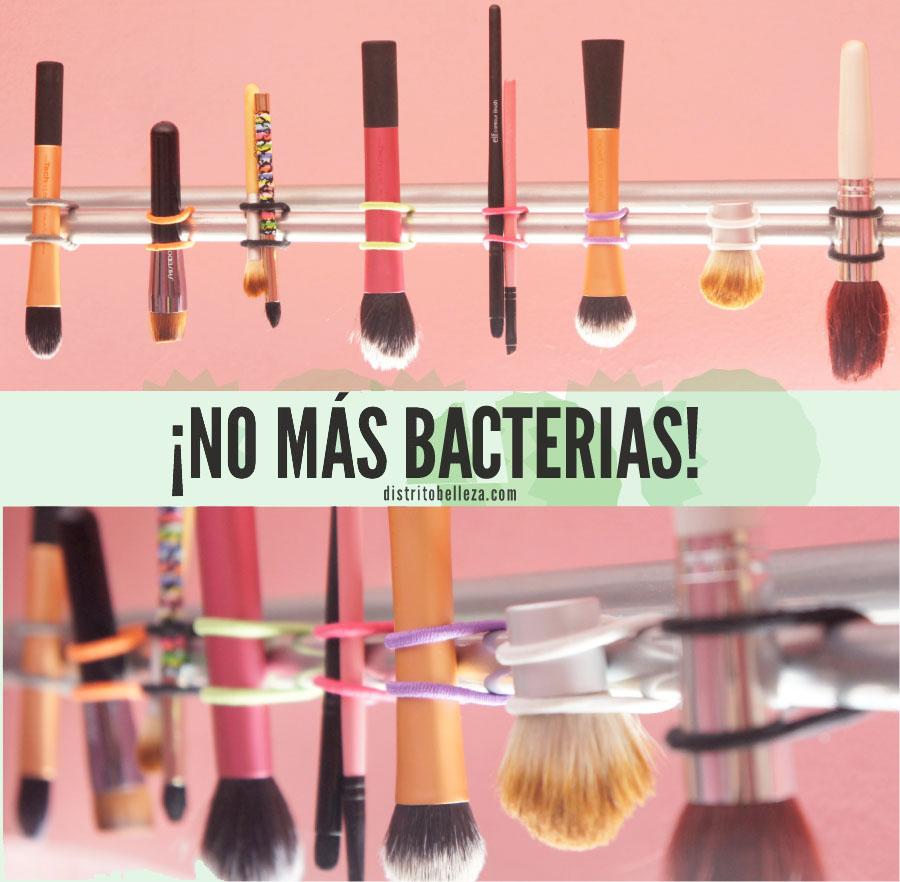 Limpiar brochas de maquillaje - Distrito Belleza.