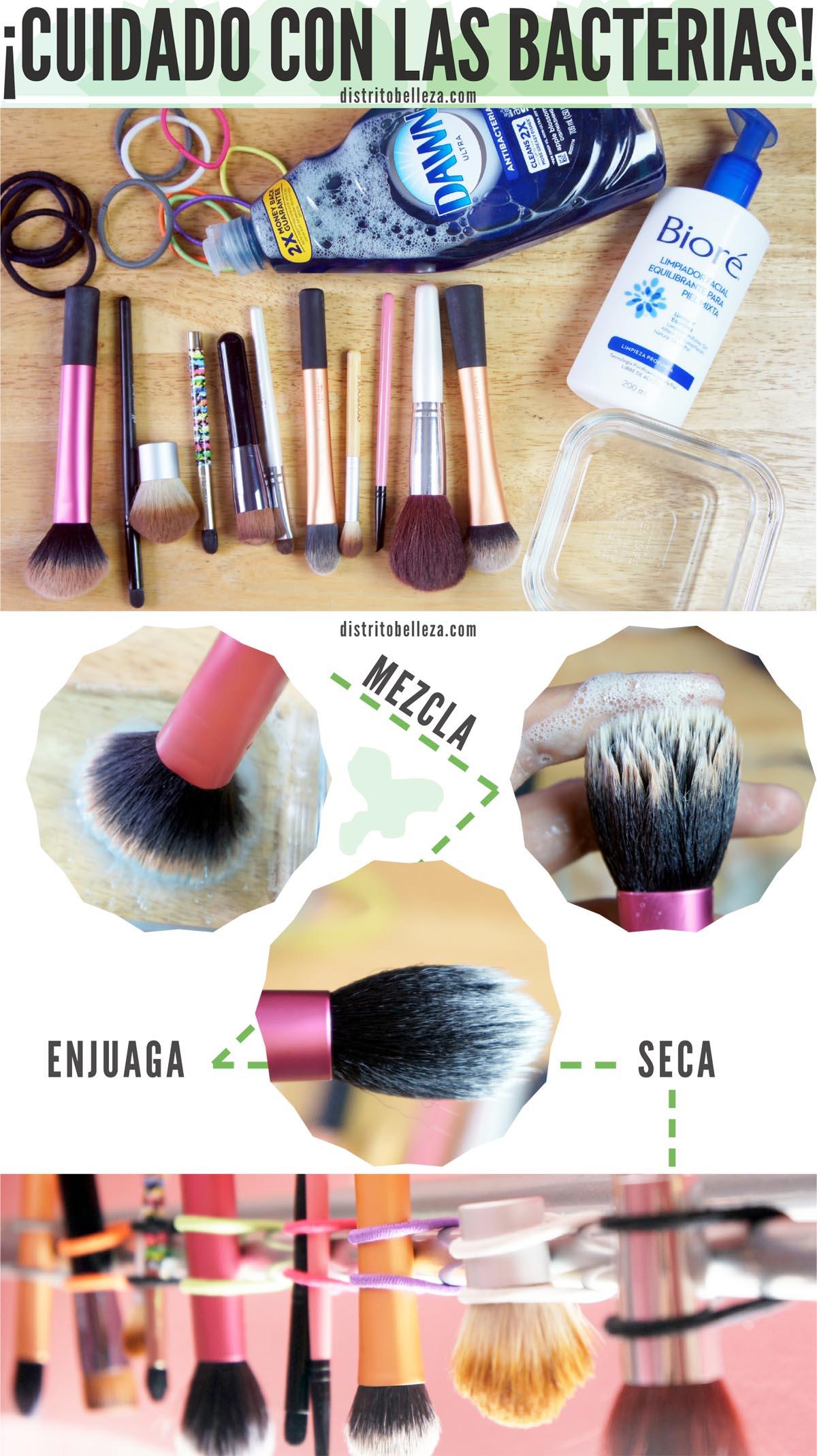 Limpiar brochas de maquillaje distrito belleza - Como limpiar una casa rapido ...