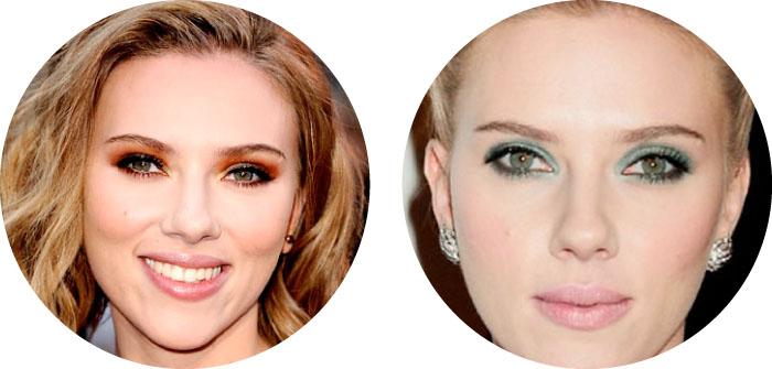 Maquillaje para ojos verdes SCARLETT JOHANSON
