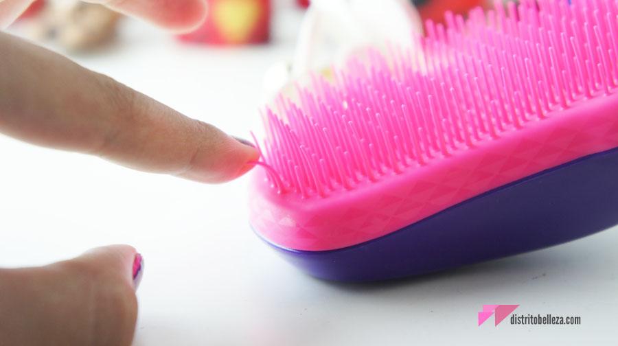 Reseña cepillo tangle teezer cerdas flexibles