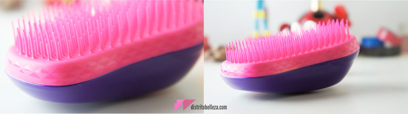 Reseña Cepillo Tangle Teezer textura