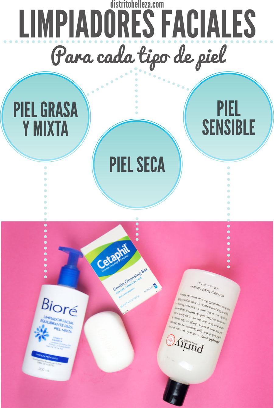 Tipos de limpiadores faciales