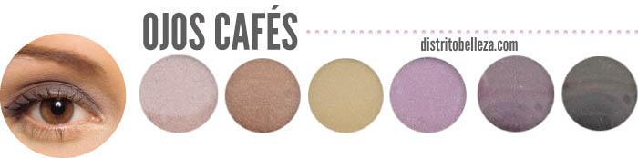 maquillaje para ojos cafés colores