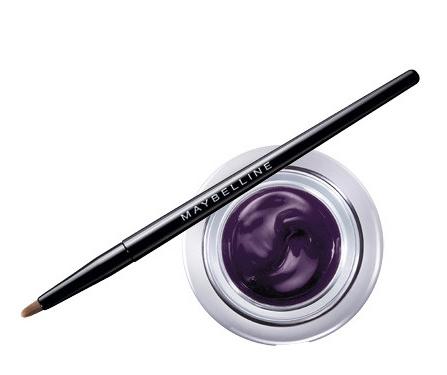 maquillaje para ojos cafés delineador morado