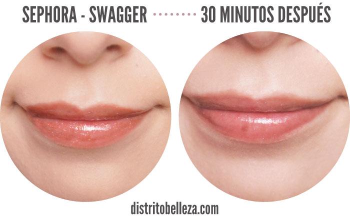 Reseña Sephora Lip gloss Swagger 30 despues