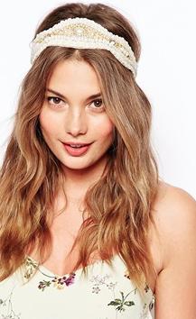 Accesorios para cabello verano 2014 bandita blanca