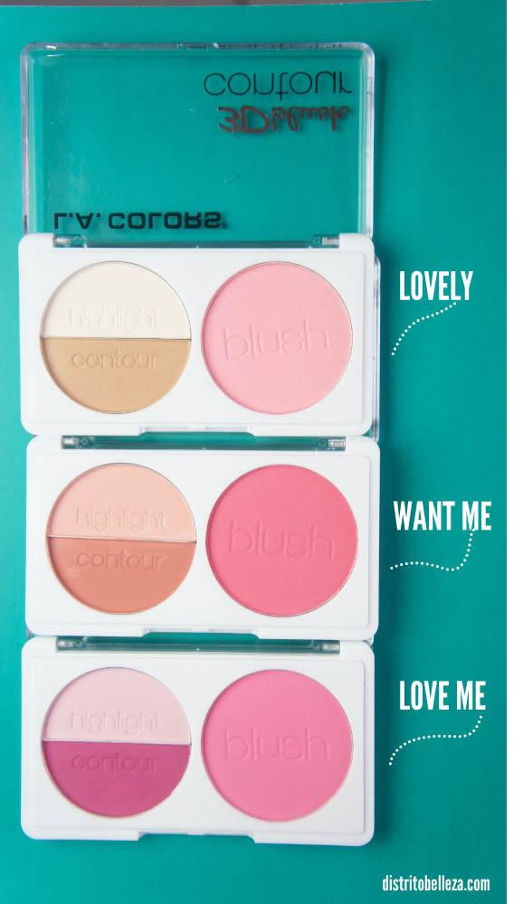 L.A. colors 3d blush contour Colores