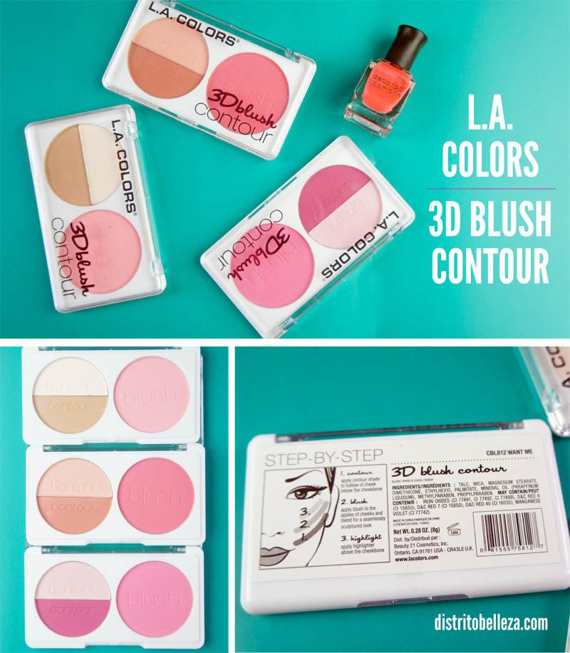 L.A. colors 3d blush contour distrito belleza