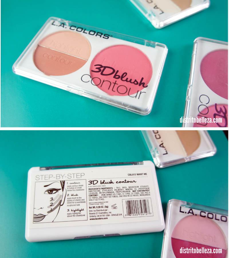 L.A. colors 3d blush contour empaque