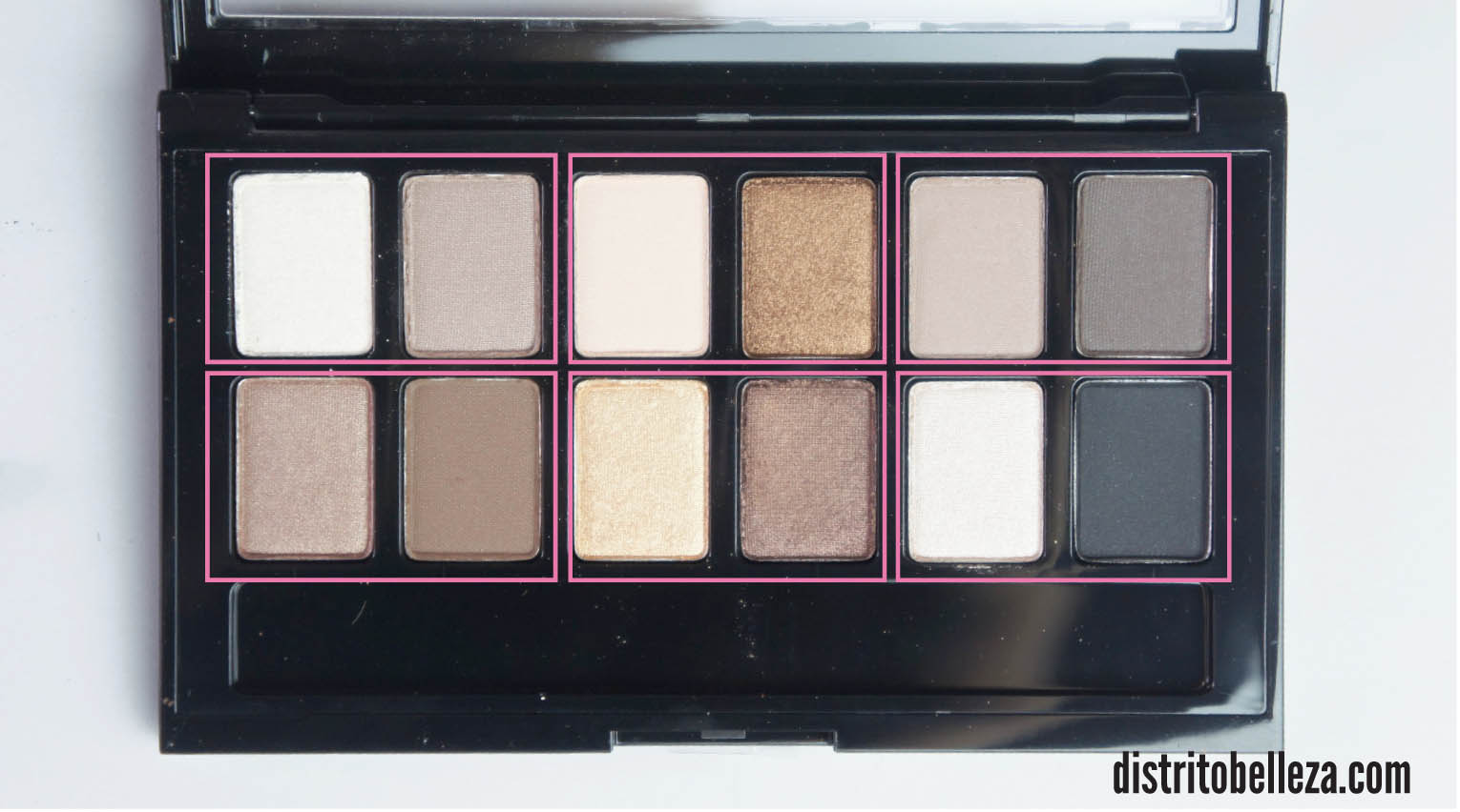 Sombras Maybelline The Nudes dúos