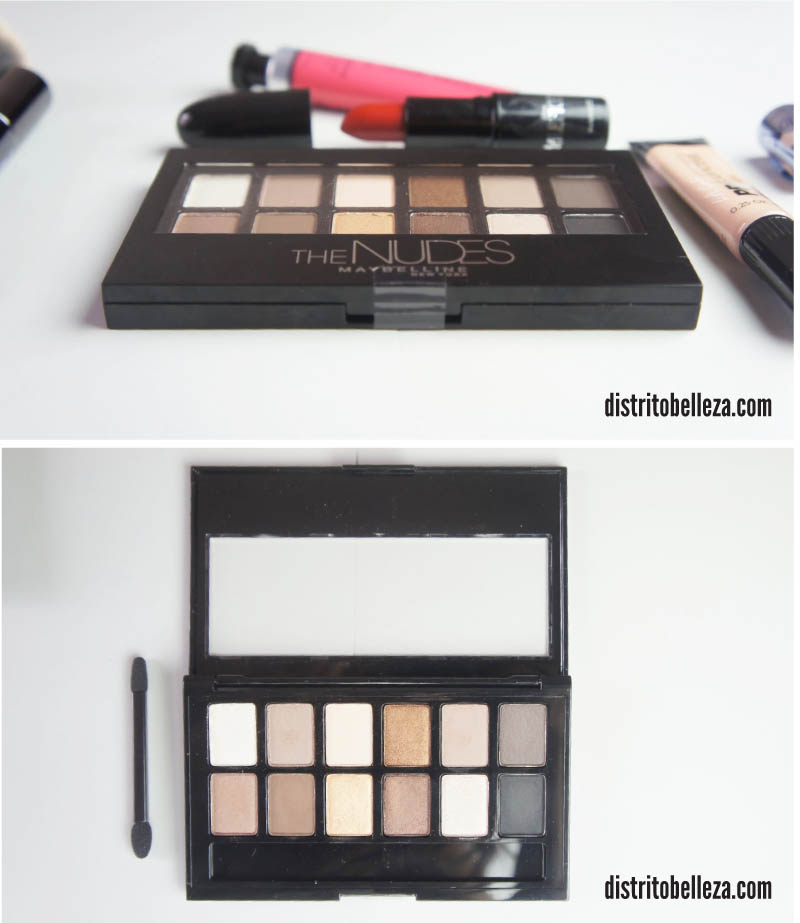 Sombras Maybelline The Nudes empaque