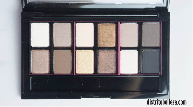Sombras Maybelline The Nudes quads
