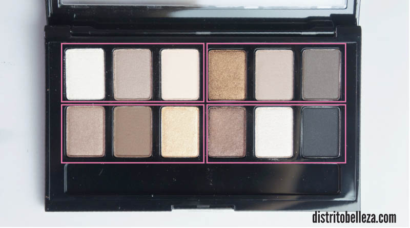 Sombras Maybelline The Nudes trios