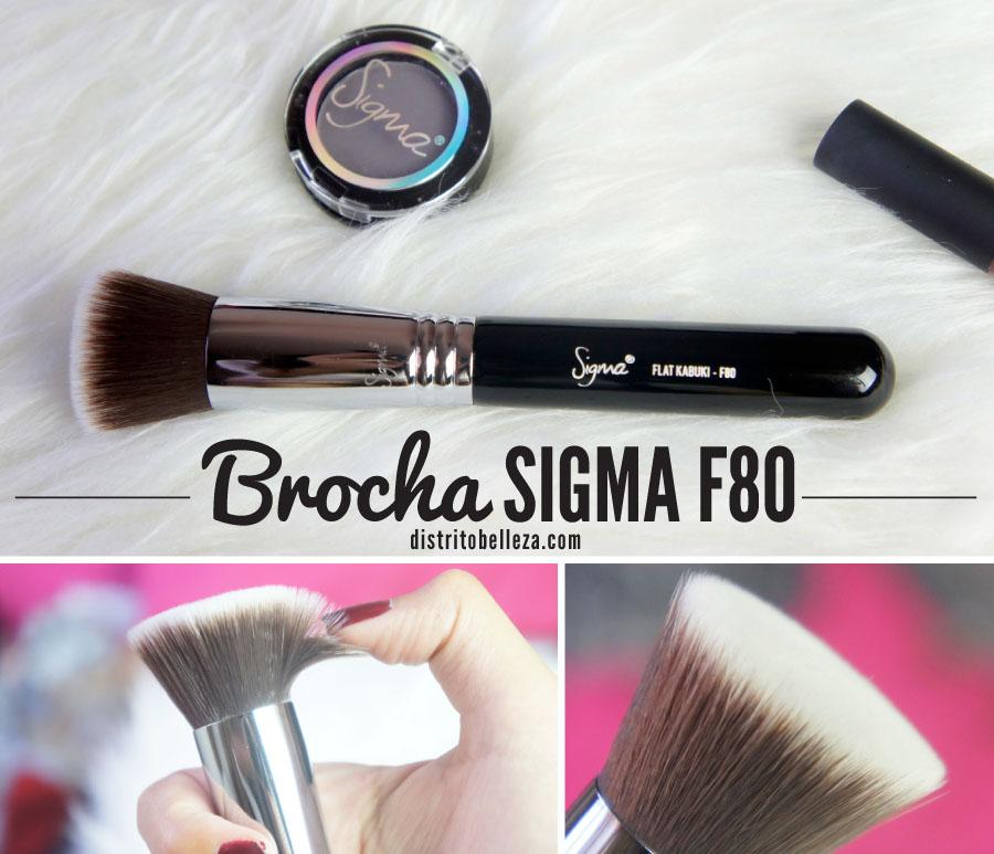 Brocha Sigma F80 distrito belleza
