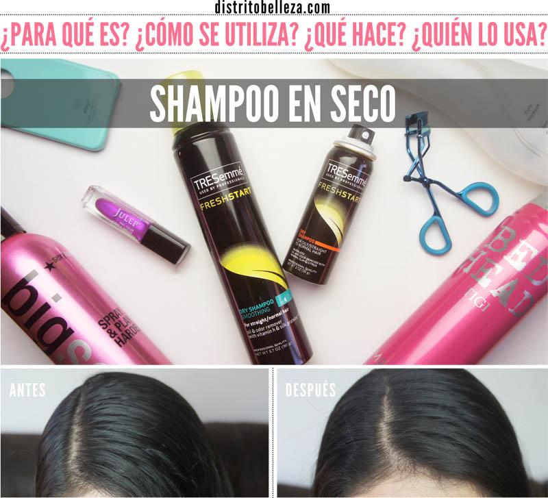 Como usar Shampoo en seco distrito belleza