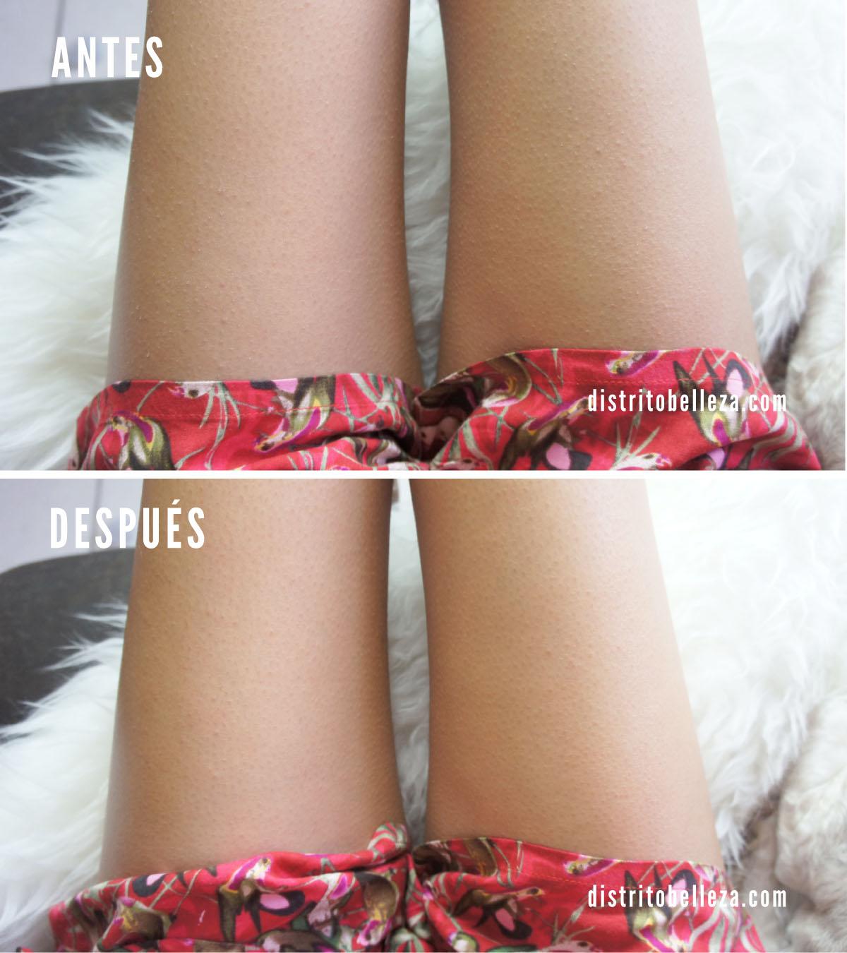 Crema Jergens BB Body antes y después