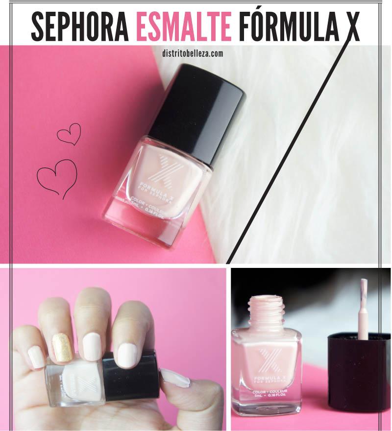 Esmalte Sephora fórmula X distrito belleza