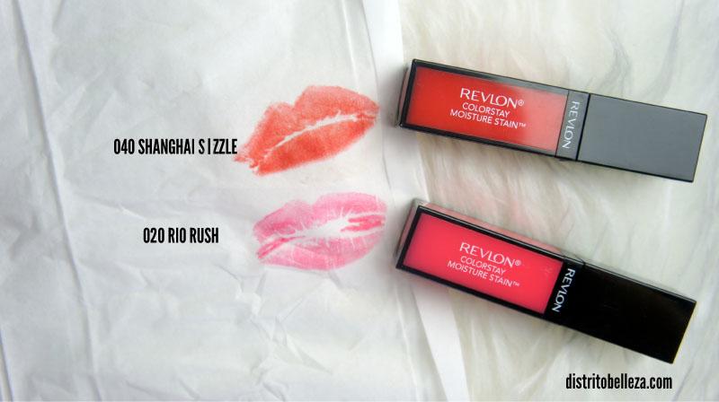 Reseña Revlon Moisture Stain ColorStay pigmentación