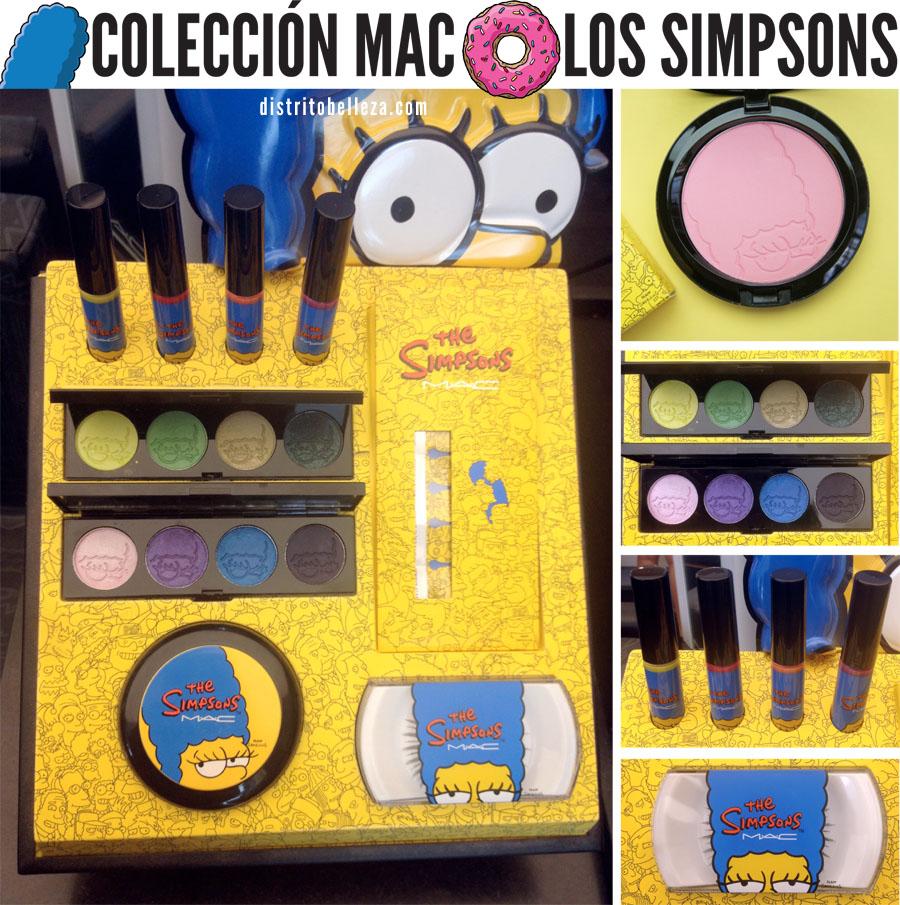 Colección MAC Los simpsons distrito belleza