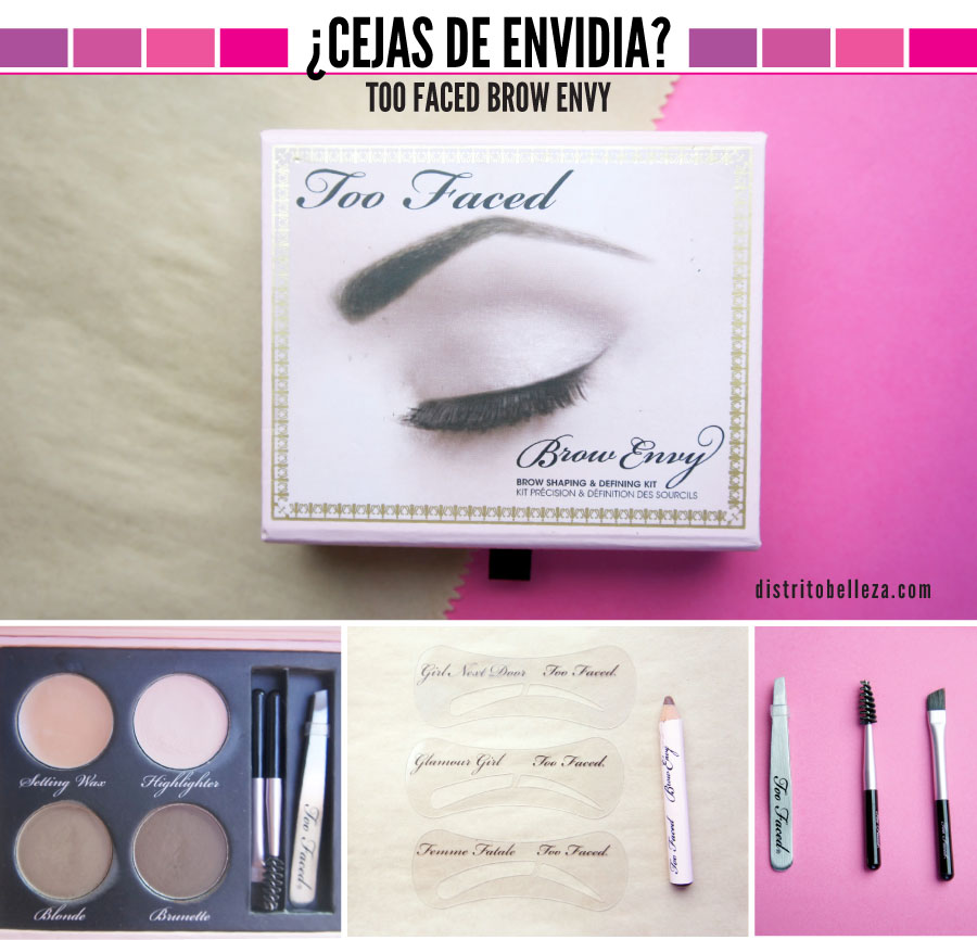 Kit de cejas Too Faced Brow Envy Distrito Belleza
