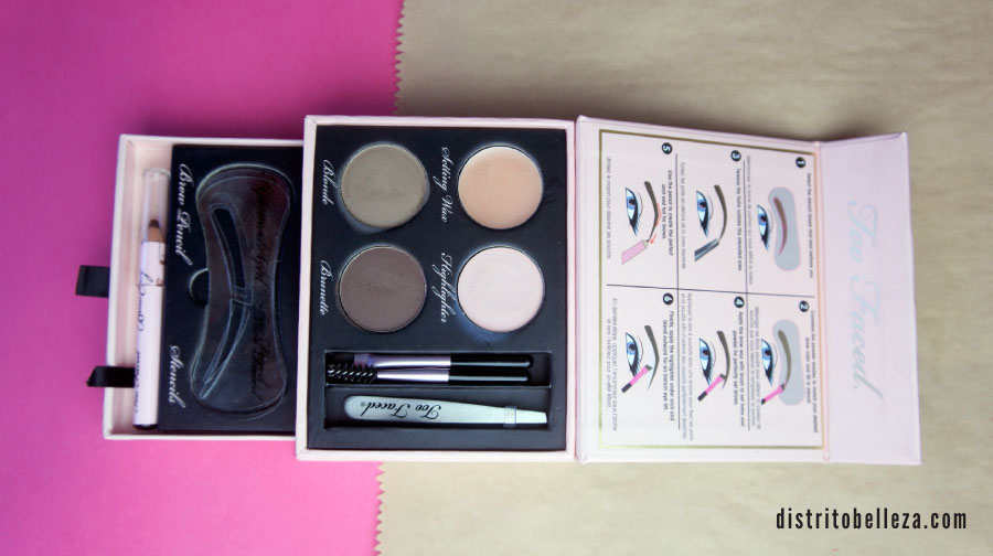 Kit de cejas Too Faced Brow Envy empaque