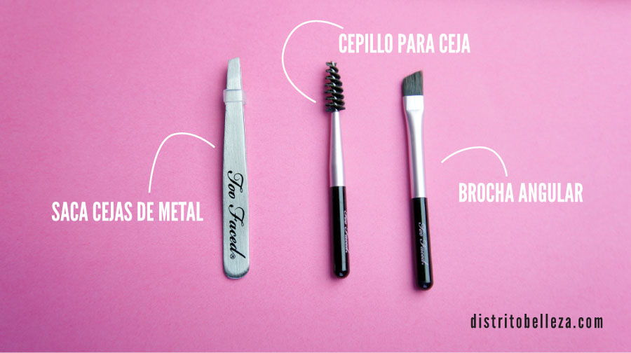 Kit de cejas Too Faced Brow Envy herramientas