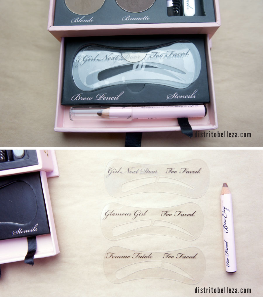 Kit de cejas Too Faced Brow Envy stencils