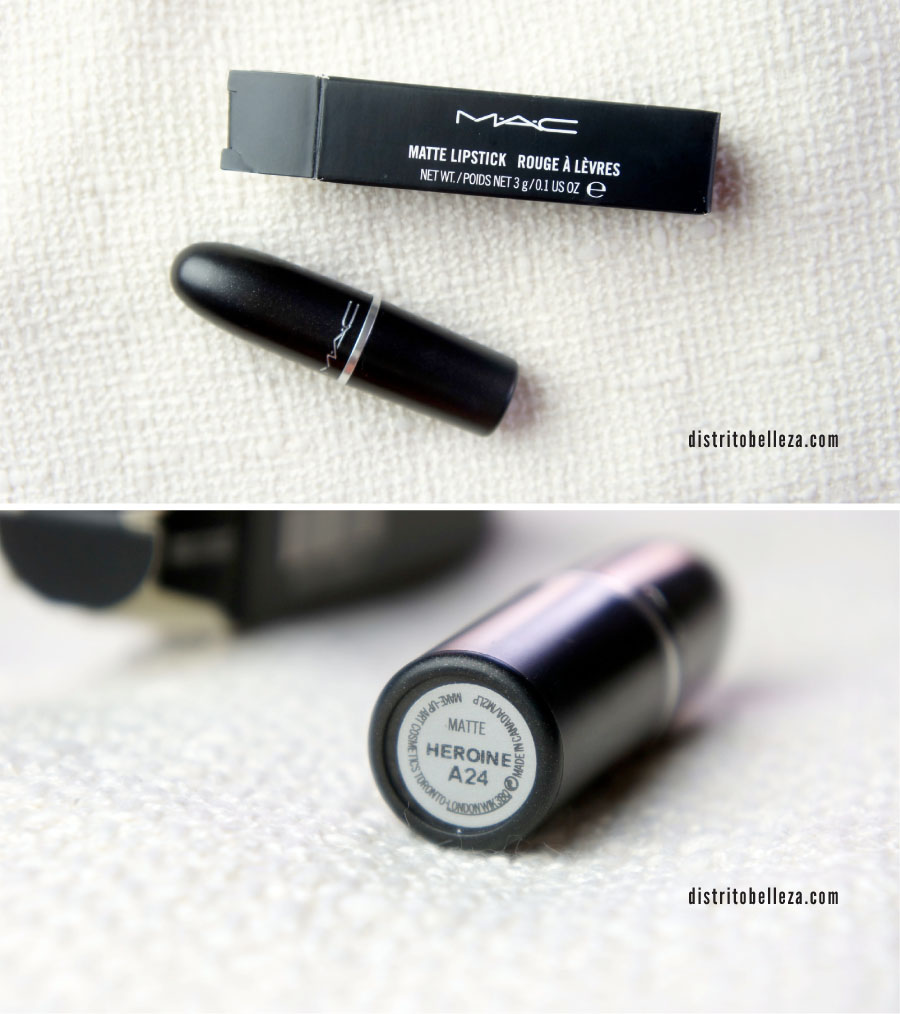 Labial Heroine MAC empaque