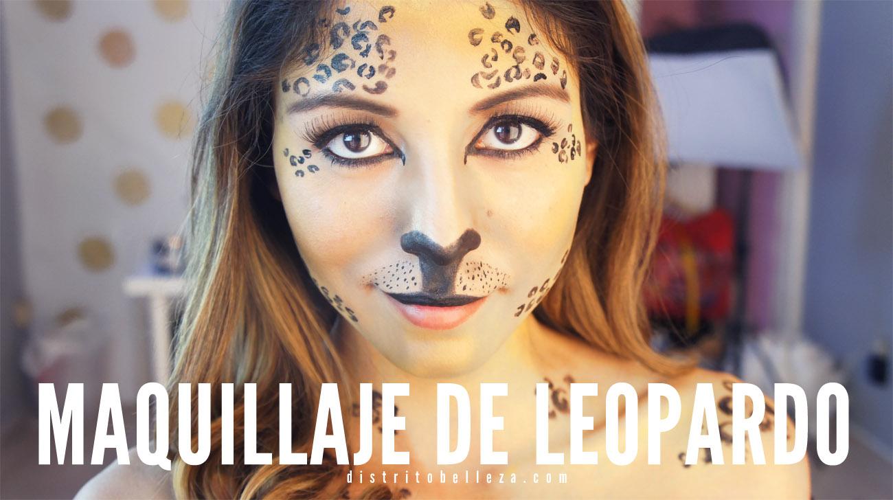 Maquillaje para Halloween de leopardo distrito belleza