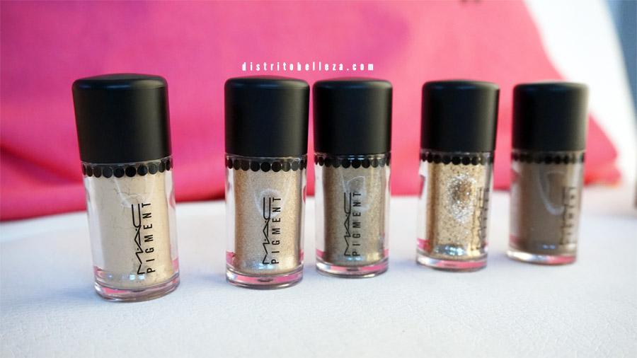 Colección Heirloom mix mac pigmentos dorados