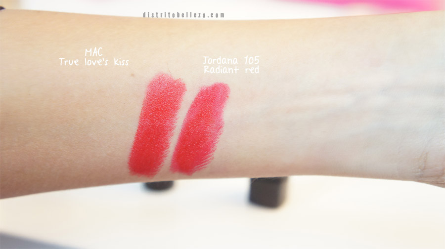 Duplicados labiales MAC maleficent true loves kiss jordana 105