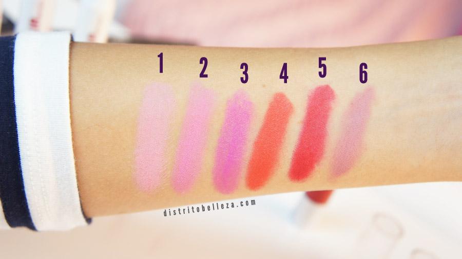 LA Colors chunky Lip pencil colores