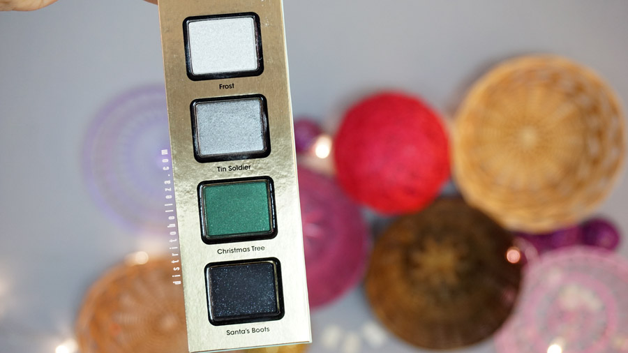 Carrusel Too Faced La belle carousel sombras frost, tin soldier, christmas tree, santas boots
