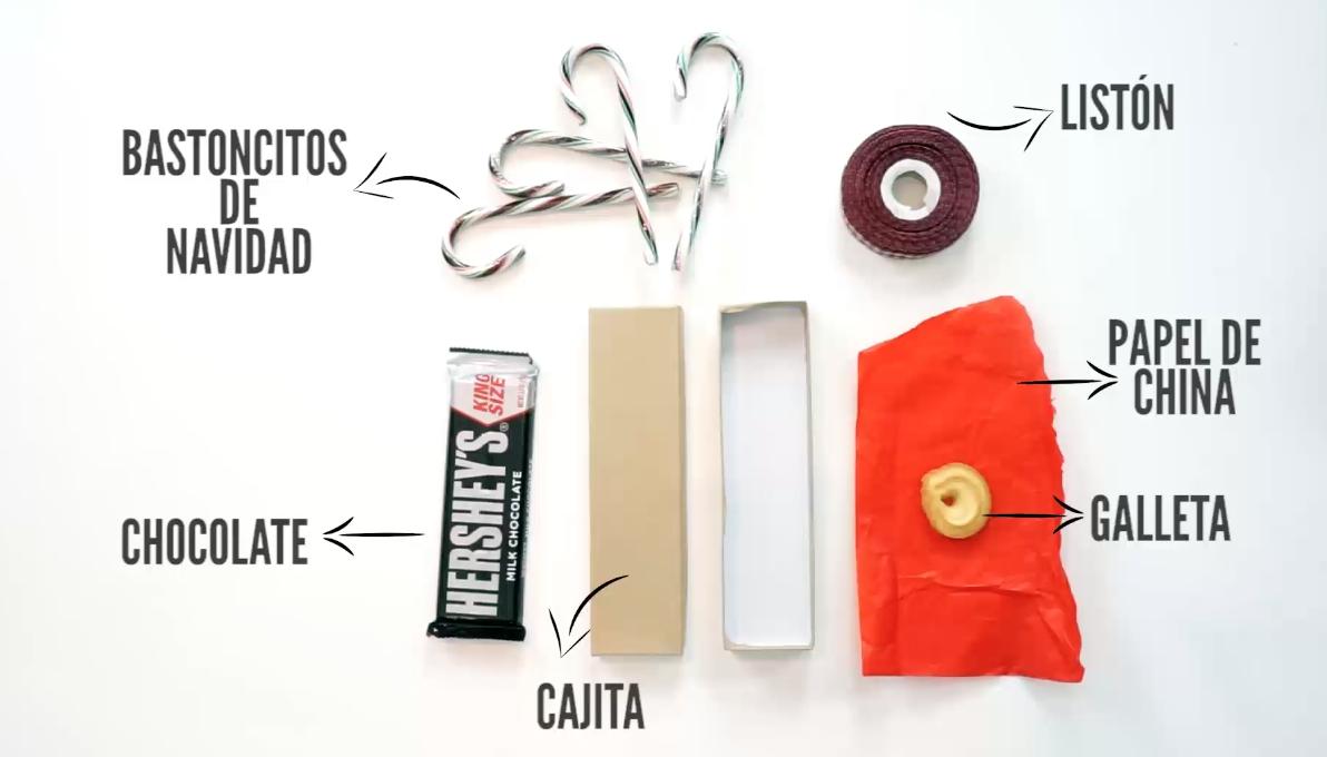 DIY Regalos navidad fáciles materiales bastones de navidad