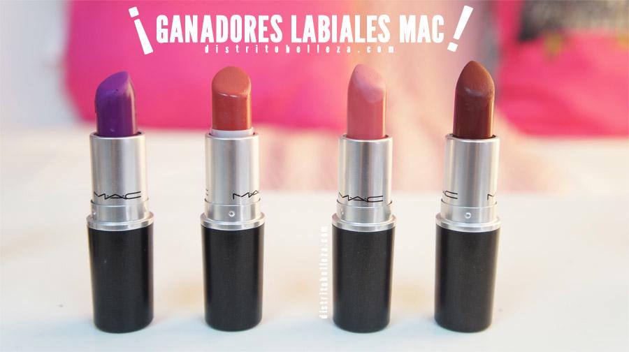 Ganadores labiales MAC distrito belleza