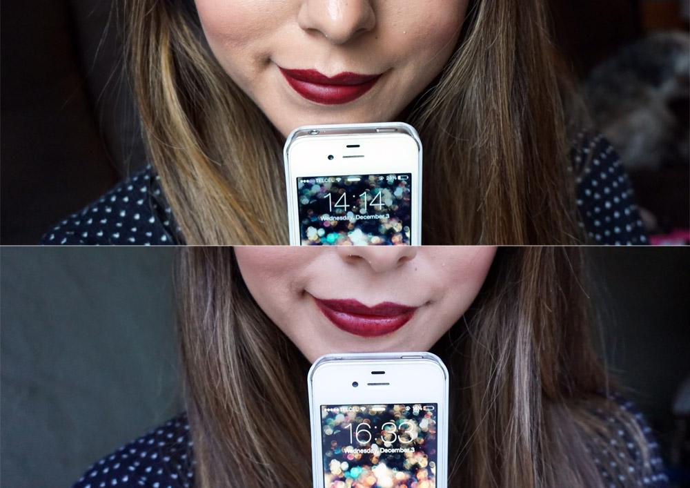 Labiales Kat Von D Studded kiss kat von d antes y después